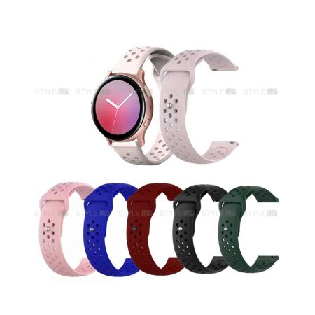 خرید بند سیلیکونی ساعت سامسونگ Galaxy Watch Active 2 مدل Nike