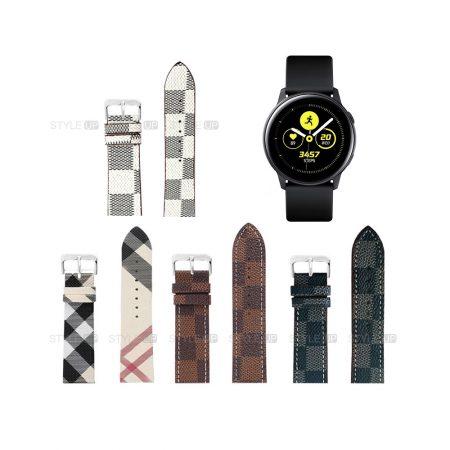 خرید بند ساعت سامسونگ Galaxy Watch Active طرح لویی ویتون