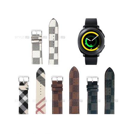 خرید بند ساعت سامسونگ Samsung Gear Sport طرح لویی ویتون