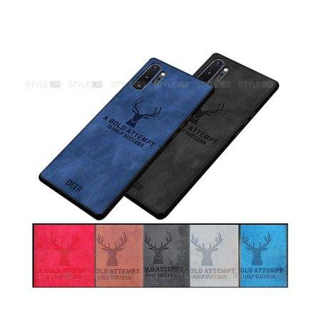 خرید قاب گوشی سامسونگ Galaxy Note 10 Plus پارچه ای طرح گوزن