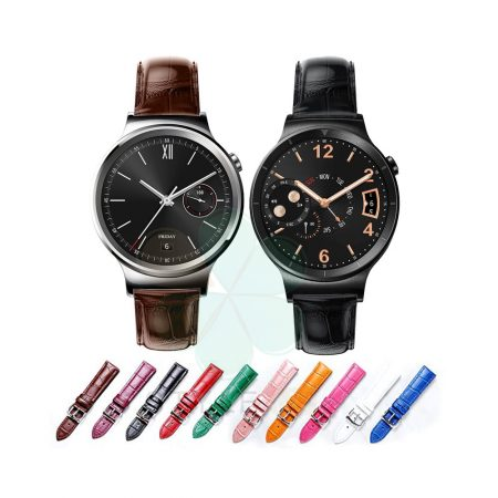 خرید بند چرمی ساعت هواوی واچ نسل یک - Huawei Watch 1 طرح Alligator