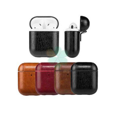 خرید کاور محافظ هندزفری ایرپاد Apple Airpods مدل چرمی