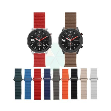 خرید بند چرمی ساعت شیائومی Xiaomi Amazfit GTR 47mm مدل Leather Loop