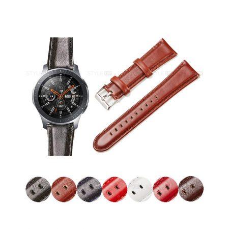 خرید بند چرمی ساعت سامسونگ Samsung Galaxy Watch 46mm مدل براق