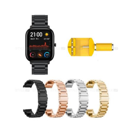 خرید بند ساعت هوشمند شیائومی Xiaomi Amazfit GTS استیل 3Pointers