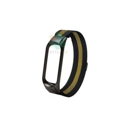 خرید بند استیل مچ بند شیائومی Mi Band 4 / 3 مدل New Milanese