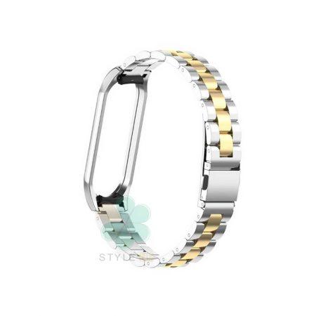 خرید بند مچ بند هوشمند شیائومی Mi Band 4 / 3 مدل استیل دو رنگر
