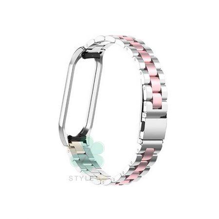 خرید بند مچ بند هوشمند شیائومی Mi Band 4 / 3 مدل استیل دو رنگ