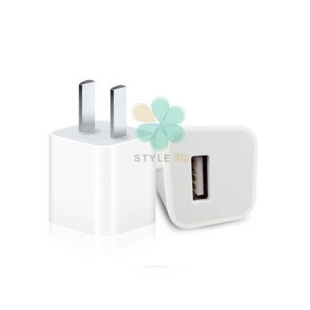 خرید آداپتور شارژر اپل آیفون MD814CH/A با پورت USB