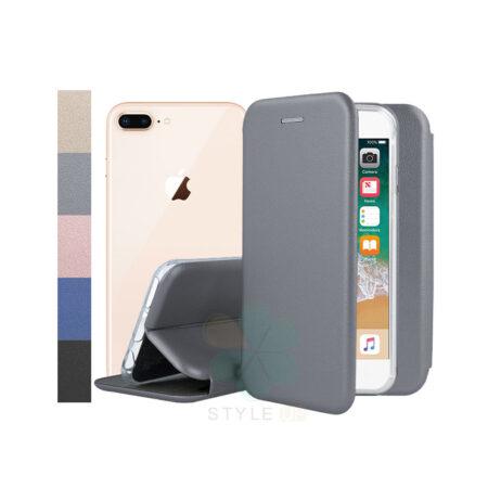 خرید کیف کلاسوری چرمی گوشی آیفون Apple iPhone 7 Plus / 8 Plus