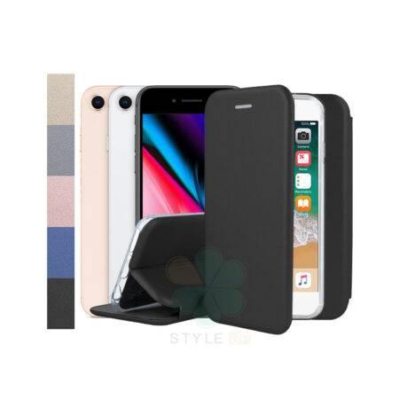 خرید کیف کلاسوری چرمی گوشی اپل آیفون Apple iPhone SE 2020