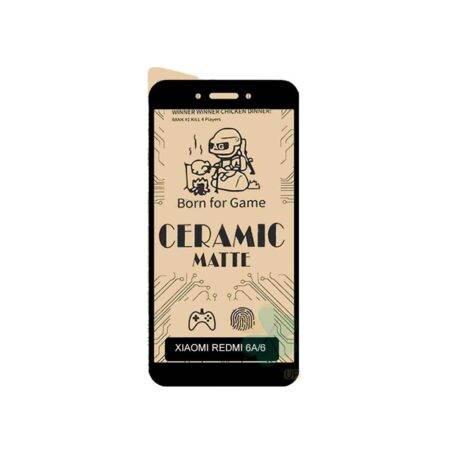 خرید گلس سرامیکی مات گوشی شیائومی Xiaomi Redmi 6 / 6A