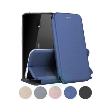 خرید کیف کلاسوری چرمی گوشی نوکیا 2.2 - Nokia 2.2
