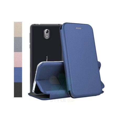 خرید کیف کلاسوری چرمی گوشی نوکیا 3.1 - Nokia 3.1