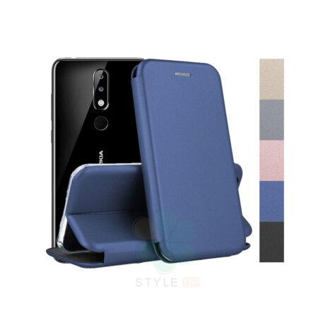 خرید کیف کلاسوری چرمی گوشی نوکیا Nokia 5.1 Plus / X5