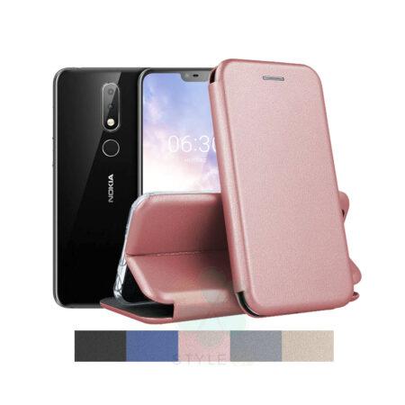 کیف کلاسوری چرمی گوشی نوکیا Nokia 6.1 Plus / X6
