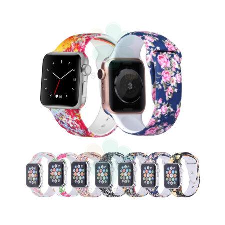 خرید بند سیلیکونی ساعت اپل واچ Apple Watch 38/40mm طرح دار