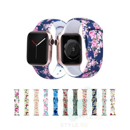 خرید بند سیلیکونی ساعت اپل واچ Apple Watch 42/44mm طرح دار