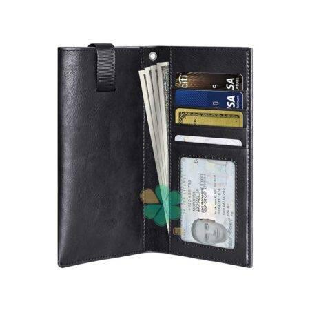 خرید کیف چرمی پول و گوشی موبایل لاکچری مدل Puloka سایز 5.2 اینچ
