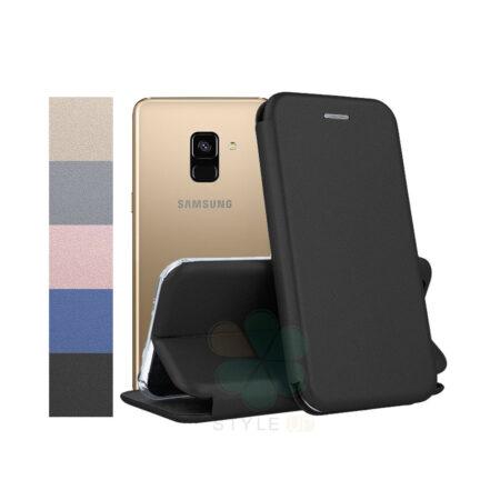 خرید کیف کلاسوری چرمی گوشی سامسونگ Samsung Galaxy A8 2018