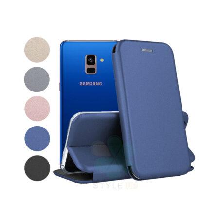 خرید کیف کلاسوری چرمی گوشی سامسونگ Samsung Galaxy A8 Plus 2018