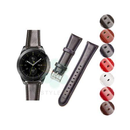 خرید بند چرمی ساعت سامسونگ Galaxy Watch 42mm مدل براق
