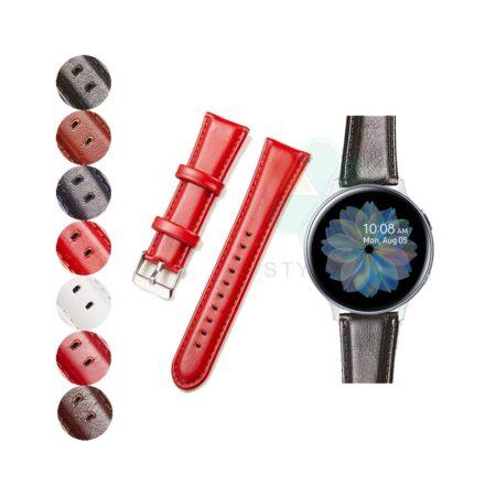 خرید بند چرمی ساعت سامسونگ Galaxy Watch Active مدل براق