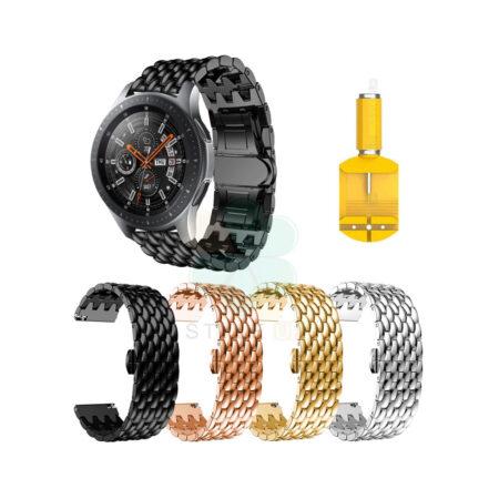 خرید بند ساعت سامسونگ Samsung Galaxy Watch 46 مدل فلزی طرح دراگون
