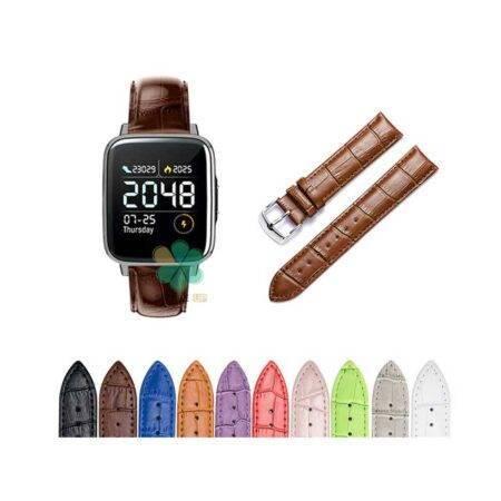 خرید بند چرمی ساعت شیائومی Xiaomi Haylou LS01 طرح Alligator