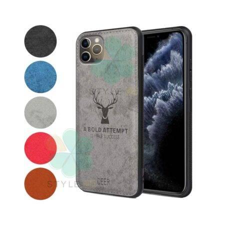 خرید قاب گوشی اپل آیفون iPhone 11 Pro Max پارچه ای طرح گوزن