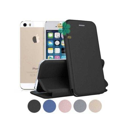 خرید کیف کلاسوری چرمی گوشی اپل آیفون Apple iPhone 5S / SE