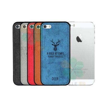 خرید قاب گوشی آیفون Apple iPhone SE / 5s پارچه ای طرح گوزن