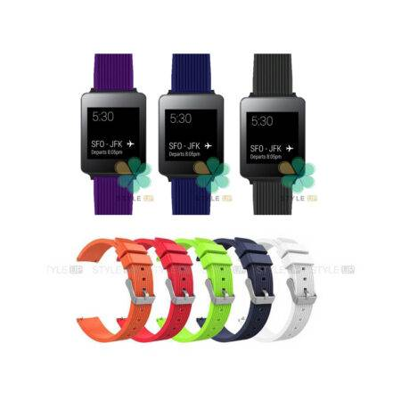 خرید بند سیلیکونی ساعت ال جی LG G Watch W100 طرح گلکسی