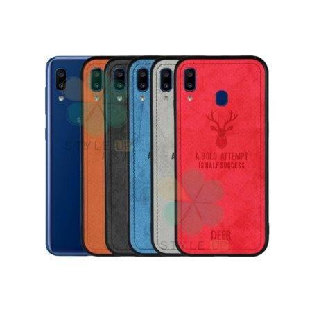 خرید قاب گوشی سامسونگ Samsung Galaxy A20e پارچه ای طرح گوزن