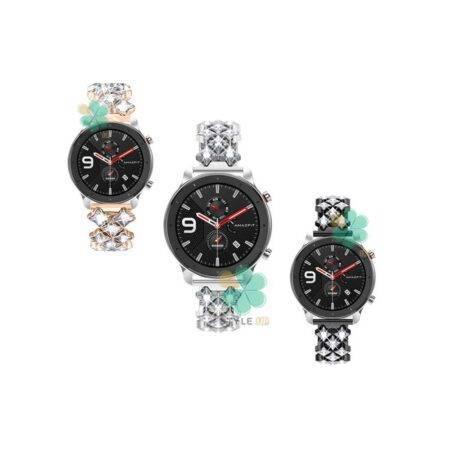 خرید بند استیل ساعت شیائومی Amazfit GTR 47mm مدل Secbolt Jewerly
