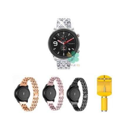 خرید بند استیل ساعت شیائومی Xiaomi Amazfit GTR 47mm مدل Wearlizer