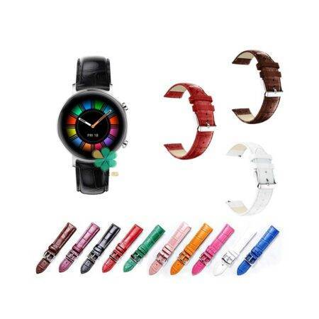 خرید بند چرمی ساعت هواوی Huawei Watch GT 2 42mm طرح Alligator