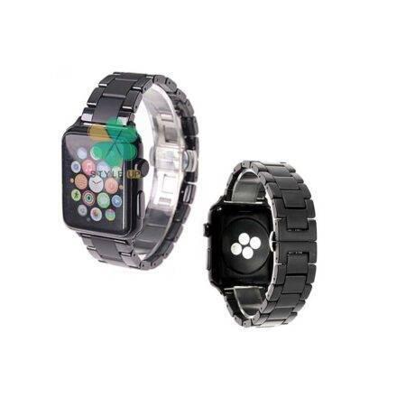 خرید بند فلزی ساعت اپل واچ Apple Watch 38/40mm مدل 3Bead Carbon