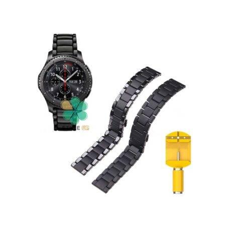 خرید بند فلزی ساعت سامسونگ Samsung Gear S3 مدل 3Bead Carbon
