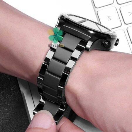 عکس بند فلزی ساعت سامسونگ Samsung Gear S3 مدل 3Bead Carbon