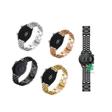 خرید بند ساعت هوشمند هواوی Honor MagicWatch 2 46mm مدل استیل زنجیری