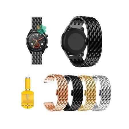 خرید بند ساعت هواوی Huawei Watch GT مدل فلزی طرح دراگون