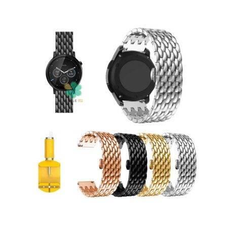 خرید بند ساعت موتورولا Moto 360 2nd 46mm مدل فلزی طرح دراگون