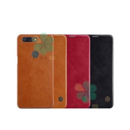 خرید کیف چرمی نیلکین گوشی وان پلاس OnePlus 5T مدل Qin