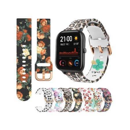 خرید بند ساعت شیائومی Xiaomi Amaxfit GTS سیلیکونی طرح دار