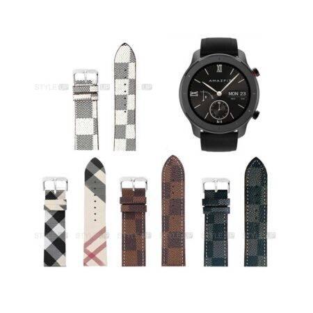 خرید بند ساعت شیائومی Xiaomi Amazfit GTR 42mm طرح لویی ویتون