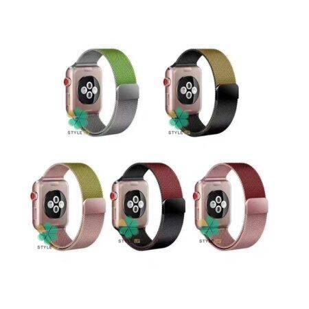 خرید بند ساعت اپل واچ Apple Watch 42/44mm مدل Bicolor Milanese