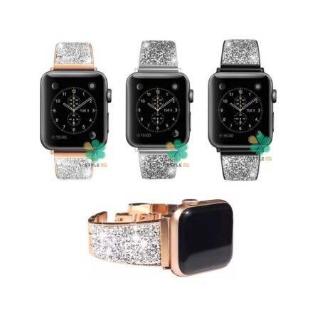 خرید بند استیل ساعت اپل واچ Apple Watch 38/40mm مدل سواروسکی