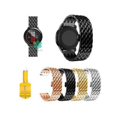خرید بند ساعت شیائومی Xiaomi Amazfit Pace مدل فلزی طرح دراگون