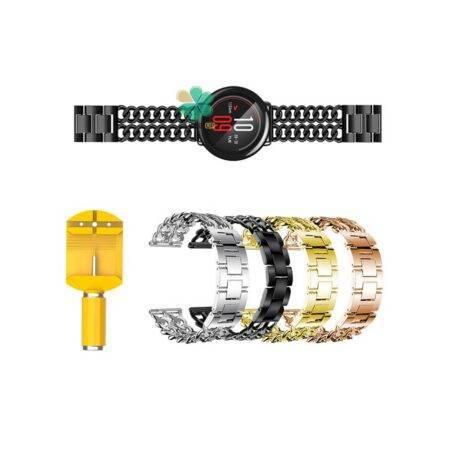 خرید بند ساعت هوشمند شیائومی Xiaomi Amazfit Pace مدل استیل زنجیری